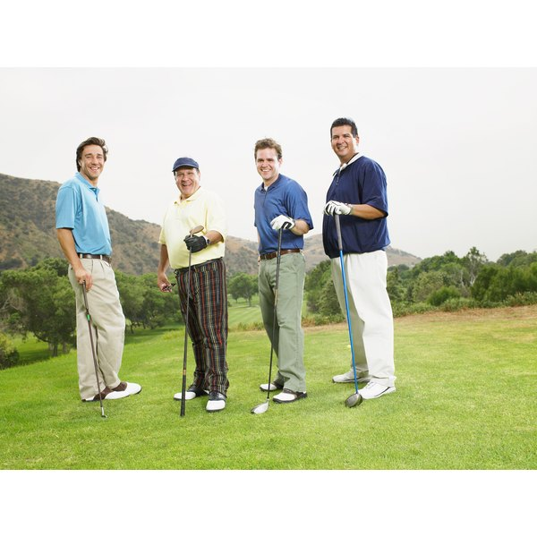 Khakis, chinos, plaid and linen pants are all acceptable attire on a golf course.