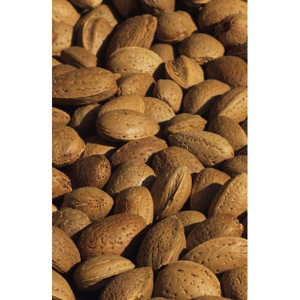 Almonds are rich in vitamin E.