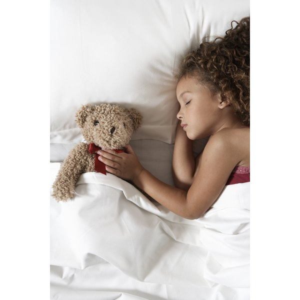 Kids often sleep with stuffed animals for a sense of comfort.