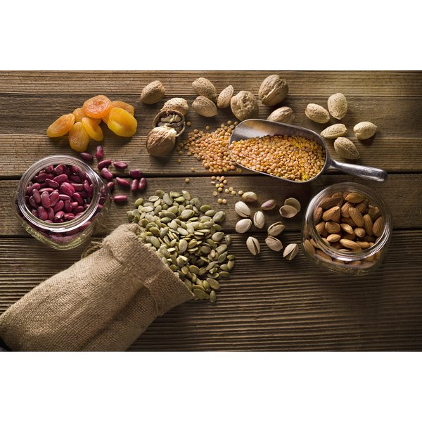 Choose calorie-dense foods such as nuts, trail mix, dried fruit, seeds, and granola.
