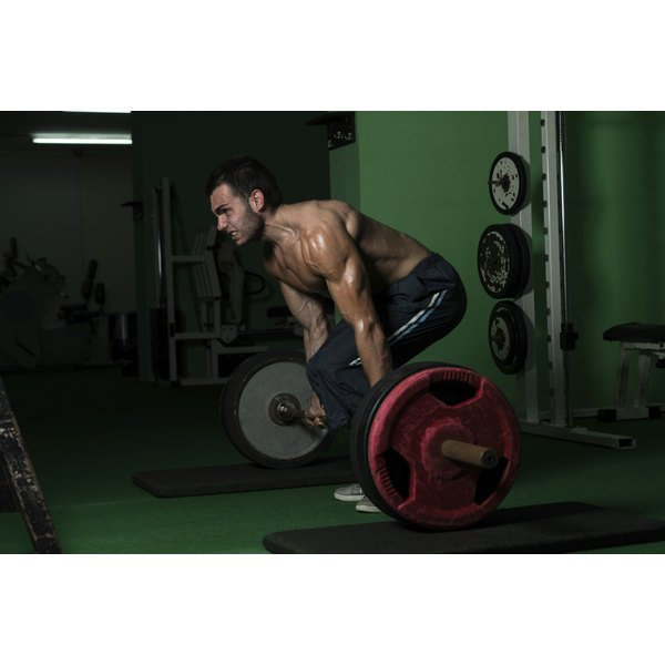 A man is deadlifting.