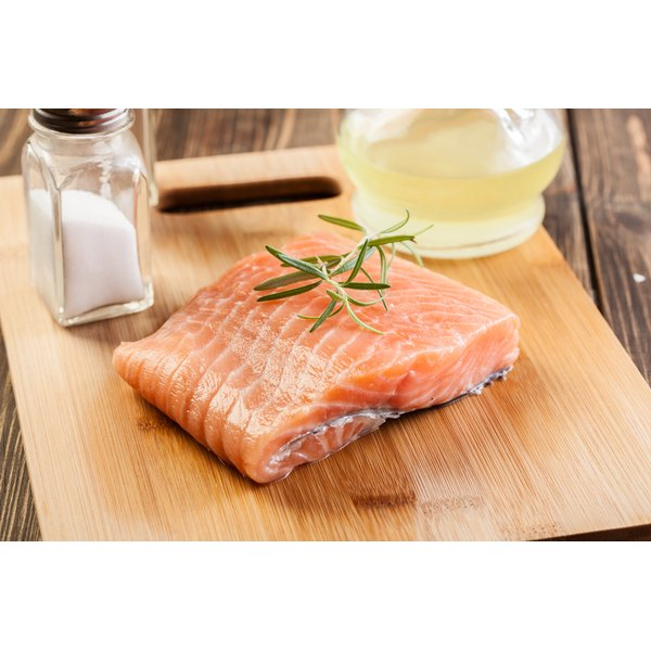 Omega-3 fatty acids are found in salmon.