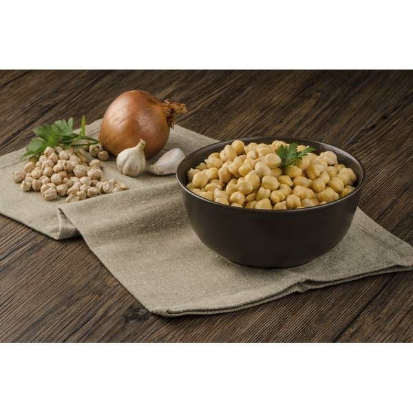 Chickpeas contain dietary fiber and many vitamins.