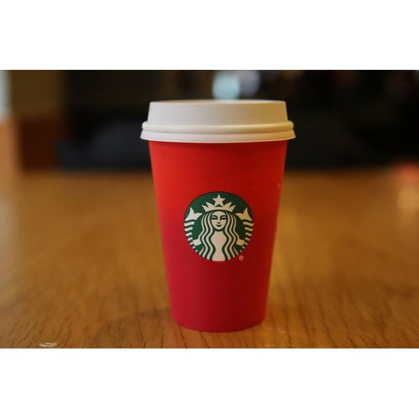 The ubiquitous Starbucks holiday cup.