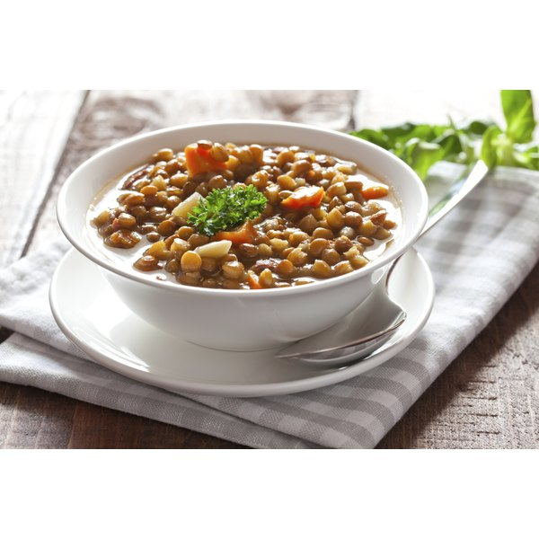 Lentils are healthy and inexpensive.