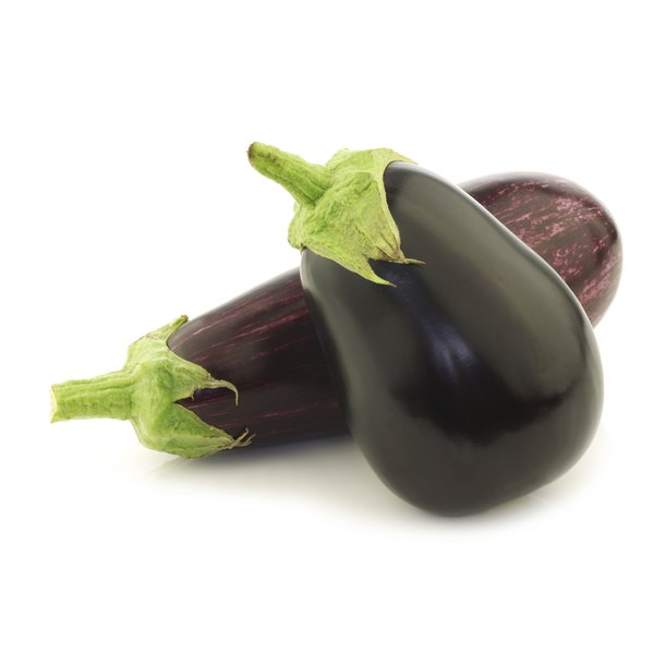 Two large eggplants.