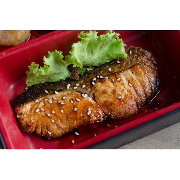 A fresh teriyaki steak.