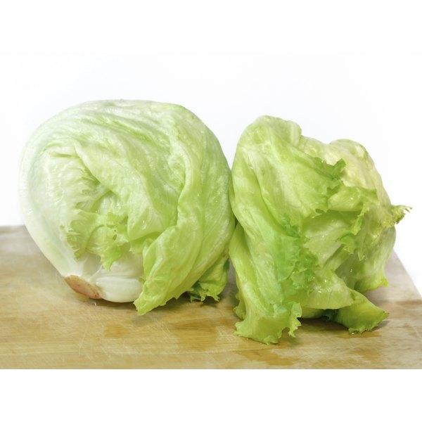 Iceberg lettuce usually has a mild, sweet taste.