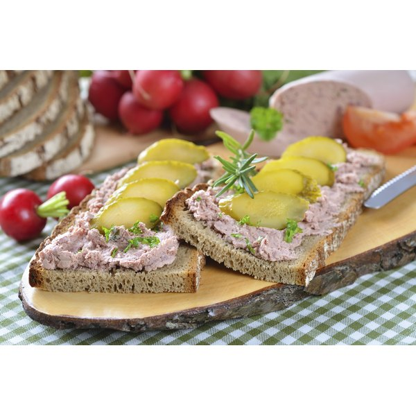 Liverwurst pairs well with dense, rustic bread and pickles.