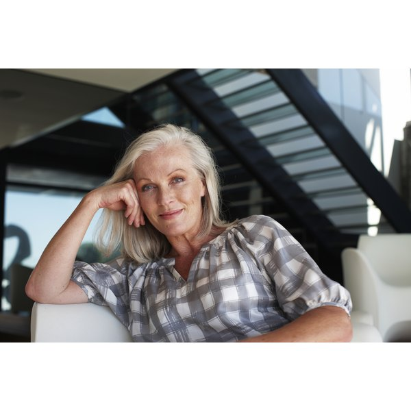 White hair turns yellow when external factors build up on the hair.