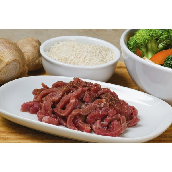 Start with steak strips already cut for stir-fry to save time.