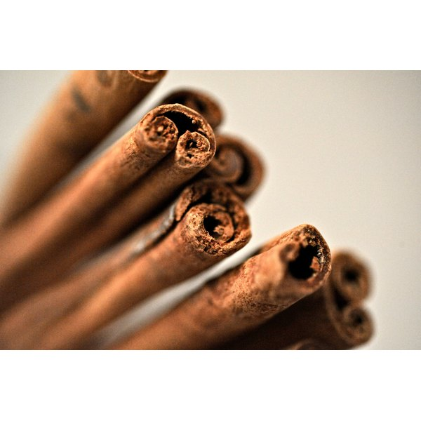 A bunch of cinnamon sticks.