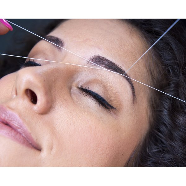 Threading process is typically done on eyebrows but can be used on other areas of the face, too.