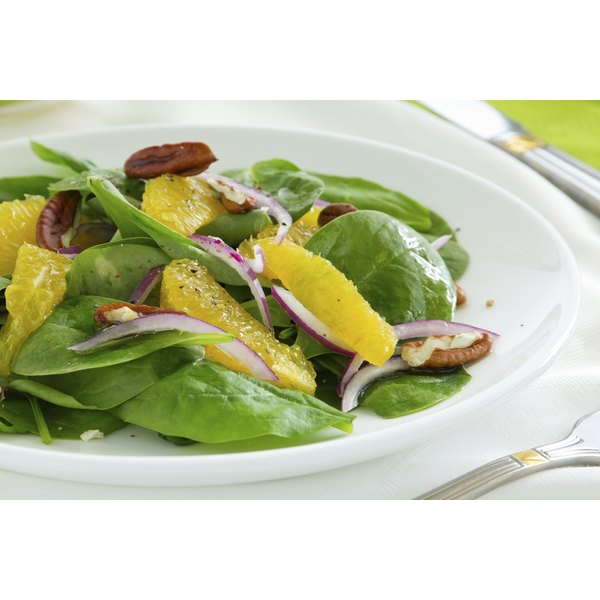 A fresh spinach salad.