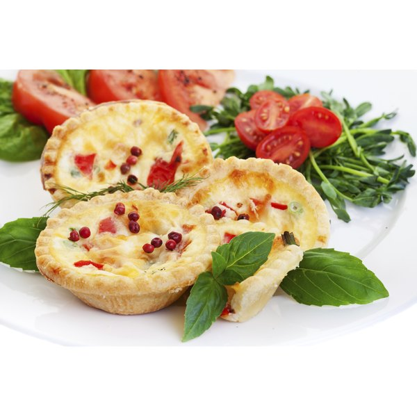 Mini quiche shells are a handy vessel for sweet and savory fillings.
