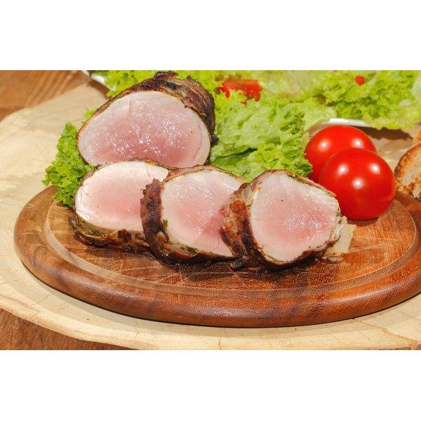 Plated pork tenderloin.