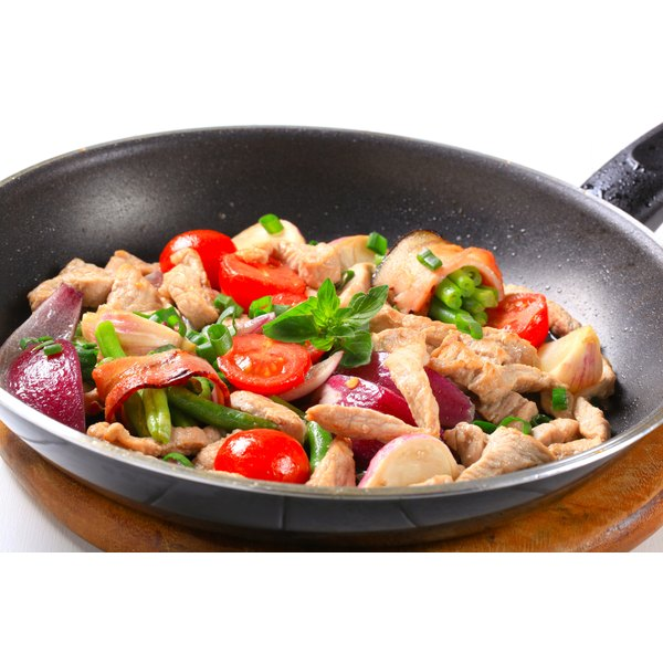Stir-fry veggies and chicken for a quick, easy low-carb meal.