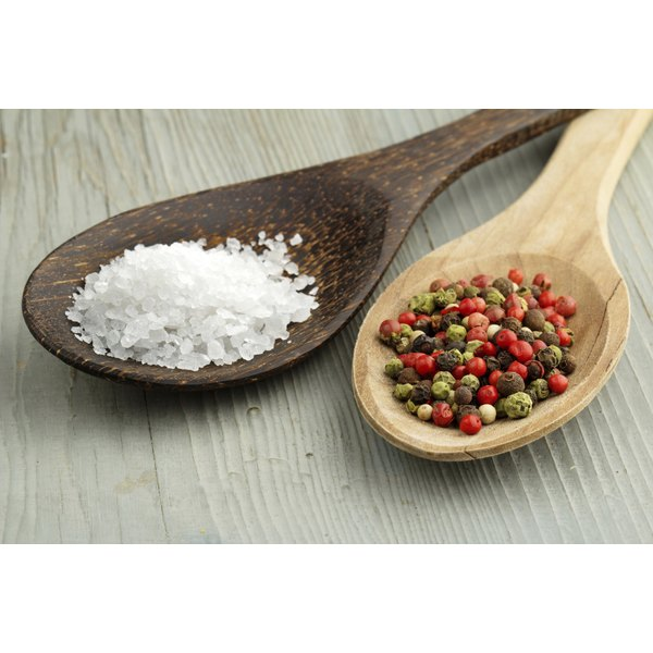 As a general guideline, add spices at a ratio of 1 tablespoon per 1 cup of salt.