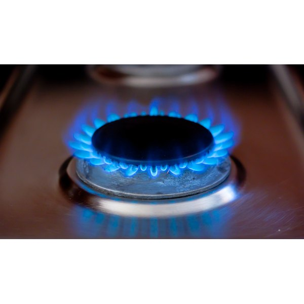 Burning gas stove