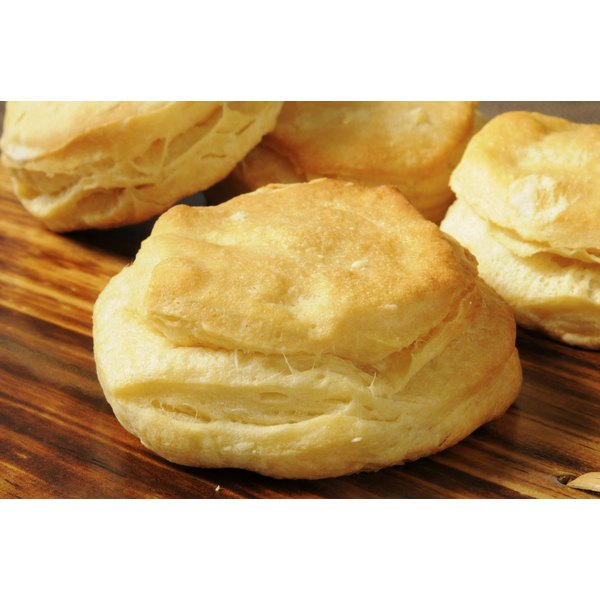 The buttermilk in homemade biscuits helps them rise.
