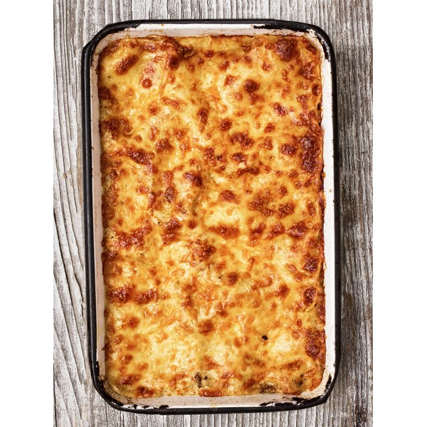 Cheese lasagna is often prepared with more that one type of cheese.