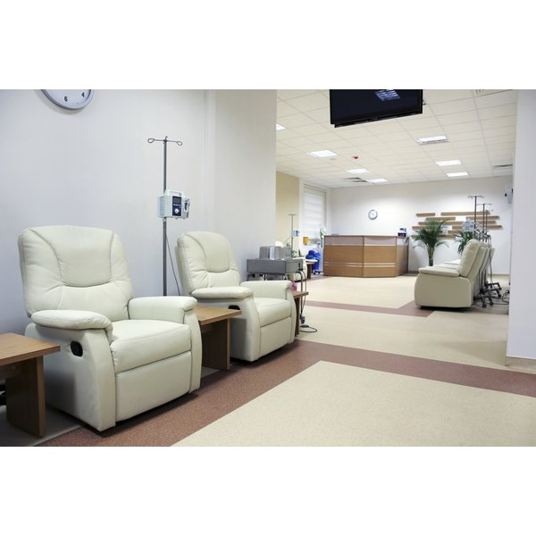 Cancer treatment chemotherapy room.