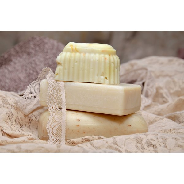 Soap consists of salts of lipid compounds that have partial solubility in water.