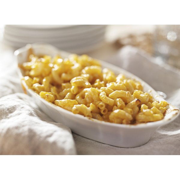Macaroni and cheese is true American comfort food.