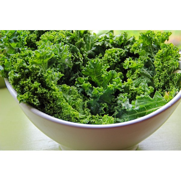 A large bowl of kale.