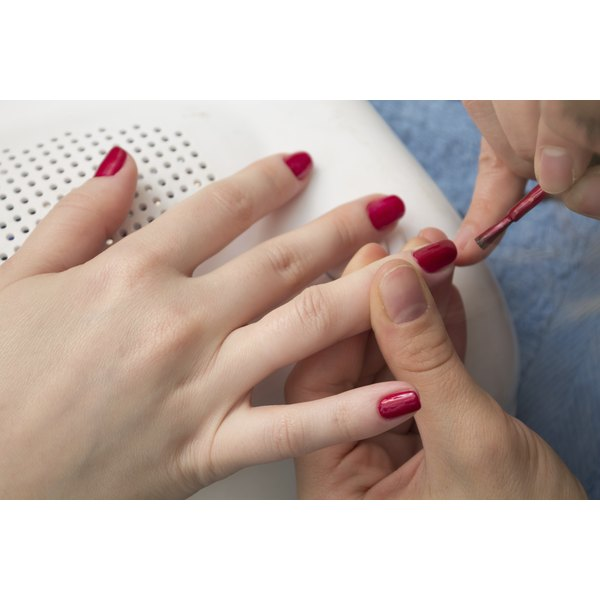 Keeping nails polished can help prevent peeling.