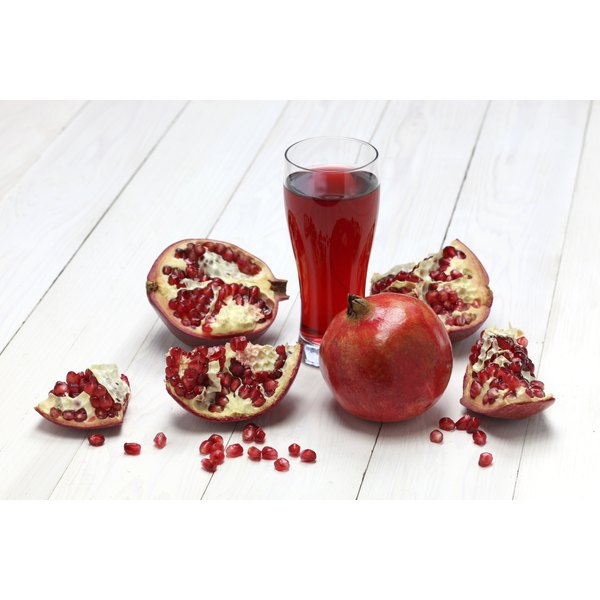 Pomegranate juice contains necessary vitamins and minerals.