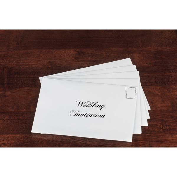 Informal wedding invitations do not require a professional calligrapher.