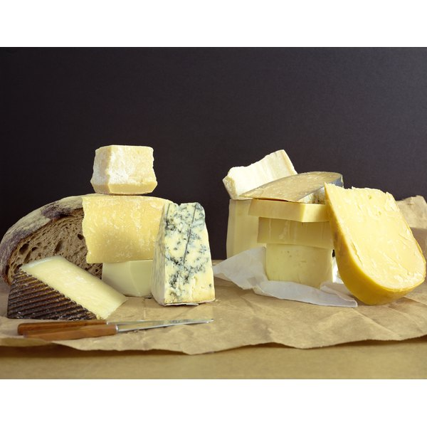 Aged cheese provides calcium and protein.
