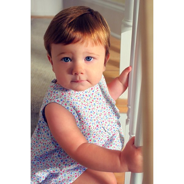 Stair railings are a serious safety hazard to young children.