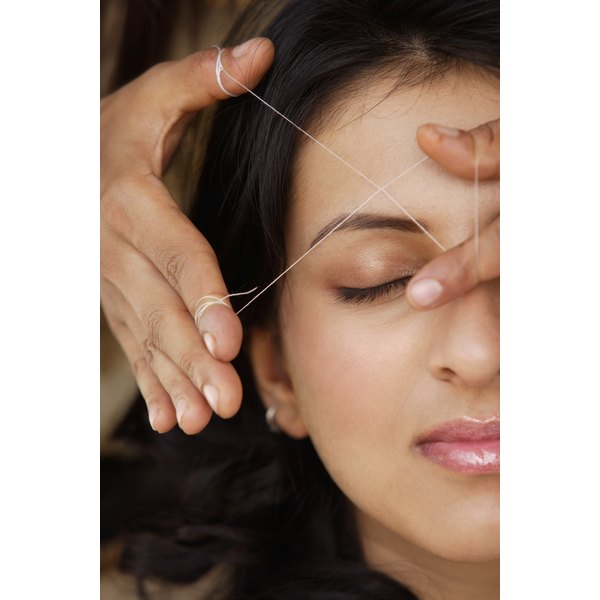 Eyebrow threading is more precise that waxing.