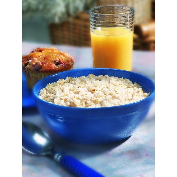 Cook oat bran cereal until the grains are as tender as you prefer.