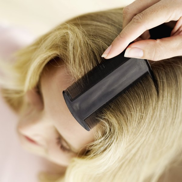 Specially designed combs can help remove stubborn nits from hair.