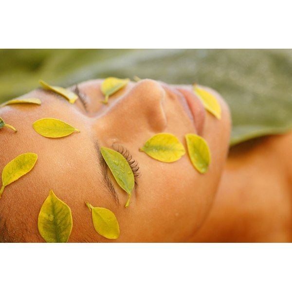 Various herbal petals treat a number of skin conditions in facial steams.