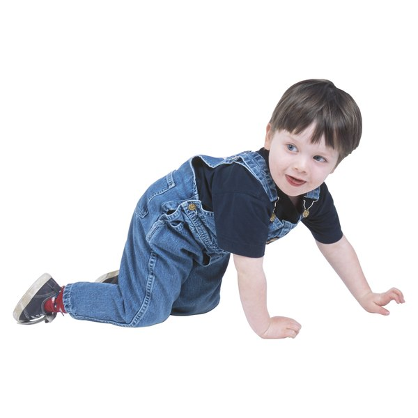 Show your preschooler how to crawl along like a spider.