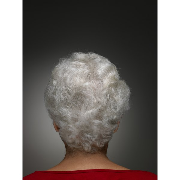 It's best to leave the perm on a little longer to alter the texture of gray hair.