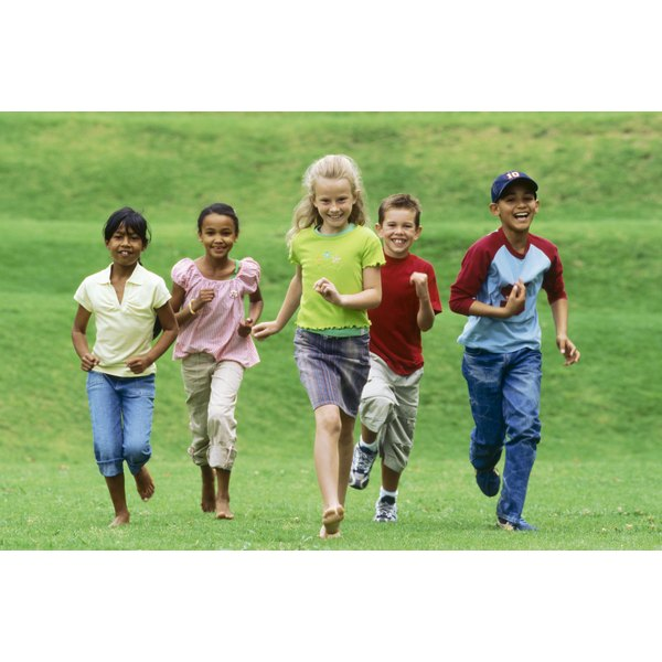 Church fun days encourage children to play together.