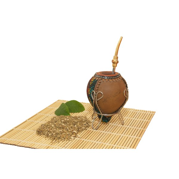 Traditional mate is consumed from a gourd.