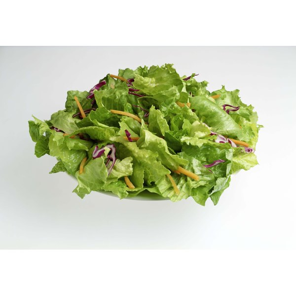 Baby spinach and lettuce are low in calories.