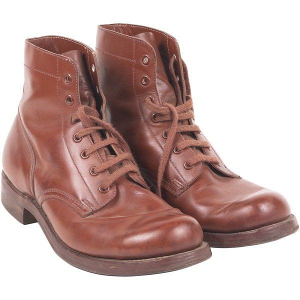 Many classic boots use grommets to protect the leather from the laces.