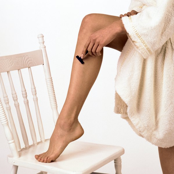 Shaving your legs leaves the hair follicles intact and sometimes visible.