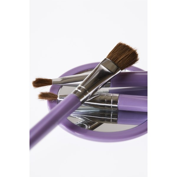 Clean your makeup brushes once a week with a natural cleaner for the best makeup application.