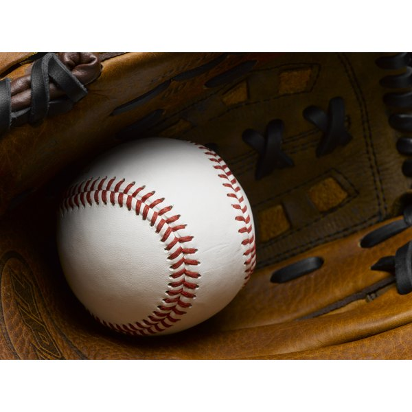 Mineral oil helps preserve leather baseball gloves.