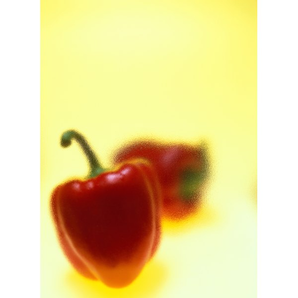 Sweet red peppers are rich in vitamin C.