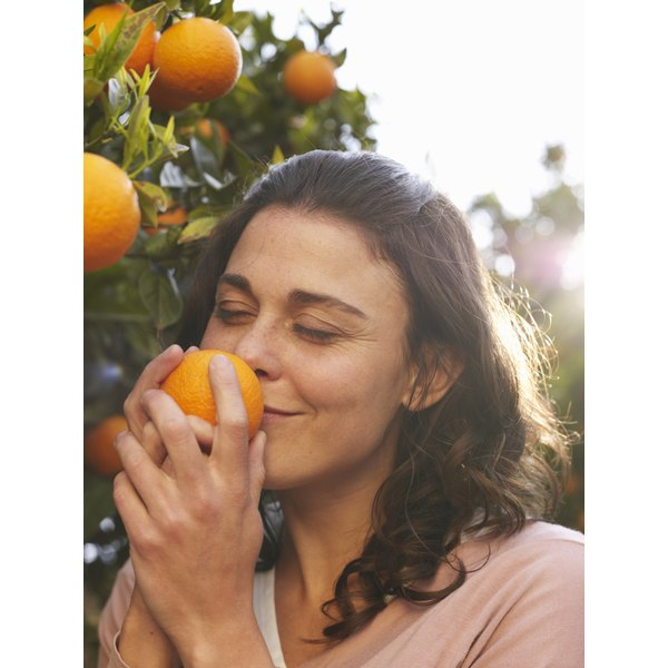 Vitamin C in fruits such as oranges is necessary for collagen production.