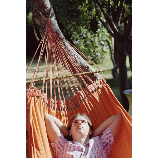 A hammock can be helpful in a teen's sensory diet.